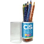 Lapis de Cor Color Cis Fun Pote com 12 Cis
