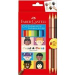 Lápis de Cor Ecolápis 12+3 Caras e Cores 6 Tons de Pele - Faber Castell
