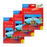 Lápis de Cor Ecolápis 24 Cores Pct 3 Un Faber Castell + Apontador com Depósito