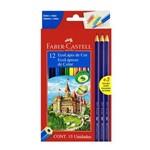 Lápis de Cor Faber Castell 12 Cores + 3 Lápis Grafite