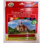 Lápis de Cor FABER-CASTELL Cx. 24 Cores + 2 Canetinhas Ponta Vai Vem
