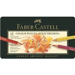 Lápis de Cor Faber Castell Polychromos Estojo Metal 012 Cores 110012