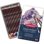 Lápis de Cor Permanente Coloursoft 12 Cores Estojo Lata 701026