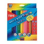 Lápis de Cor Triangular Mega Soft Color com 24 Cores - Tris