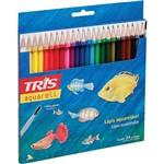 Lápis de Cor Tris Aquarell + Pincel - 24 Cores