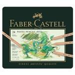 Lápis Faber-Castell Mina Pastel Seco Pitt - Estojo Metálico com 24 Cores - Ref 112124