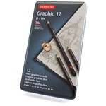 Lápis Grafite Graduado Graphic Pencils Estojo com 12 Unidades B à 9H Ref.34213 Derwent