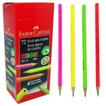 Lápis Preto Neon Faber Castell - 72 Unidades