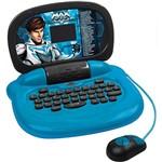 Laptop Infantil Max Steel 8050 Azul e Preto com 30 Atividades - Candide