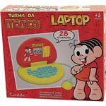 Laptop Infantil Mônica 2150 Vermelho e Amarelo com 28 Atividades - Candide