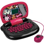Laptop Infantil Monster High 4060 Rosa e Preto com 30 Atividades - Candide