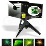 LASER Raios PROJETOR Holográfico HL-22 Original Luz de Festa Colorida 250mW