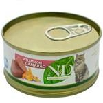 Lata N&D Feline Umido Atum C/ Camarao 70g