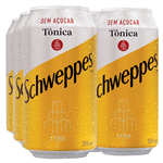 Lata Schweppes Tônica Sem Açúcar 350ml (Pack 6 Unidades)