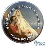 Latinha de Santa Mônica e Santo Agostinho | SJO Artigos Religiosos