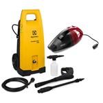 Lavadora de Alta Pressão Electrolux Power Wash Eco Kit Aspirador