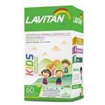 Lavitan Kids - 60 Comprimidos Mastigáveis, Uva, Limão e Laranja