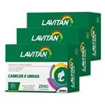 Lavitan Kit 3x Cabelos Unhas 30 Caps