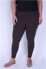 Legging Cotton Plus Size Marrom PP
