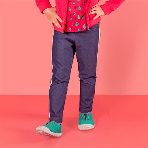 Legging Gotinha Feliz Jeans Azul/6 e 7
