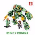 Lego Armadura Hulk Buster Mk37 Boneco Homem de Ferro 327 Peças