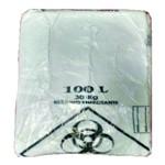 Leiraw Saco Plástico Tipo Único Infectante 100 Litros Branco
