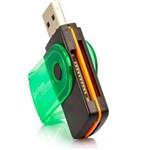 Leitor de Cartão de Memória 2.0 e 1.1 USB 480 Mbps