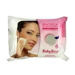 Lenço Demaquilante Umedecido Removedor de Maquiagem Ruby Rose Hb-200 25 Un.