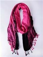 Lenço Feminino Rosa Pink/preto