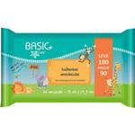 Lenço Umedecido Basic Care Zoo - 100 Unidades