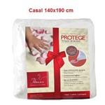 Lençol Permeável Protege - Toque de Rosas Casal (1.4x1.9m) - Fibrasca - Cód: Fi7175