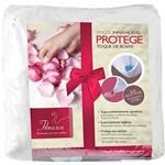 Lençol Solteiro Protege Toque de Rosas Impermeável