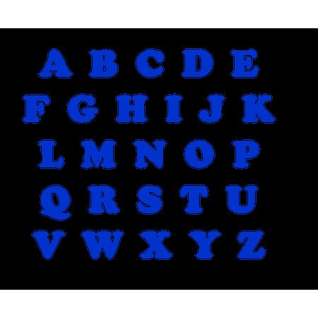 Letras de EVA Azul Escuras Letra a