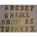 Letras de EVA Dourada com Glitter Letra a