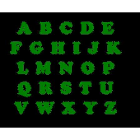Letras de EVA Verde Bandeira Letra a