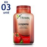Licopeno Fitoway 10mg + Selênio + Vitaminas a e E 3 Unid. 60 Caps