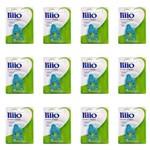 Lillo 541320 Classico Hipopotamo Prendedor de Chupeta Azul (kit C/12)