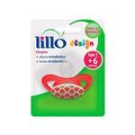 Lillo 619280 Toys Chupeta Orto Silicone Vermelha Tam2