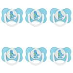 Lillo 801920 Fiona Desenhos Chupeta Orto Silicone Azul Tam2 (kit C/06)