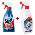 Limpa Mofo + Limpa Limo Sanol - Anti Mofo e Elimina Limo de Paredes, Rejuntes, Azulejos, Ambientes Etc