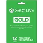 Live Card Microsoft Gold 12 Meses para Xbox 360 e Xbox One