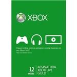 Live Card Microsoft Gold 12 Meses XBOX 360
