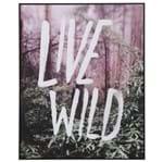 Live Wild Quadro 41 Cm X 51 Cm Preto/multicor