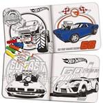 Livrinho Pinte e Lave Carro Azul Hot Wheels - Fun Divirta-Se
