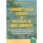 Livro - Administração Pública e Políticas de Meio Ambiente