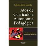 Livro - Atos de Currículo e Autonomia Pedagógica