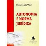 Livro - Autonomia e Norma Jurídica