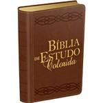 Livro - Bíblia de Estudo Colorida - Marrom