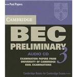 Livro - Cambridge Bec Preliminary 3 - Cd Audio
