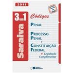Livro - Códigos Penal, Processo Penal e Constituição Federal - 3 em 1 + Legislação Complementar